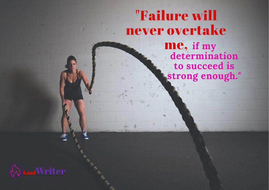 failure overtake quote