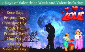 7 days of valentines week